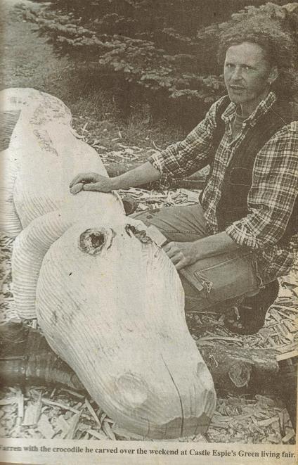 newspaper croc